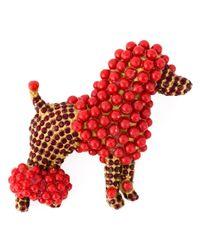 Dolce & Gabbana | Metallic Poodle Brooch | Lyst