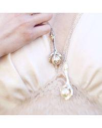 Tessa Metcalfe | Metallic Silver Pigeon Foot Pendant | Lyst
