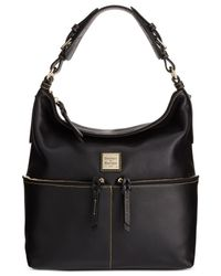 Dooney & Bourke | Black Seville Medium Zipper Pocket Hobo | Lyst