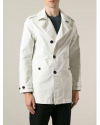 Stone Island - White Short Raincoat for Men - Lyst