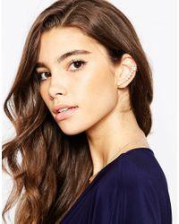 ASOS | Metallic Occasion Pearl Ear Cuff | Lyst
