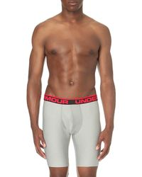 Under Armour | Gray Original Branded Stretch-jersey Boxer Briefs for Men | Lyst