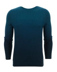 Ted Baker - Blue Holaday Sprayed Ombre Jumper for Men - Lyst