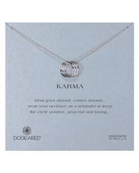 Dogeared | Metallic Sterling Silver Triple Karma Ring Necklace | Lyst