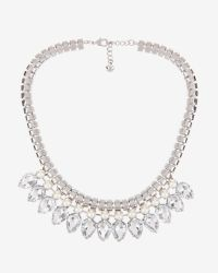 Ted Baker | Gray Teardrop Crystal Necklace | Lyst