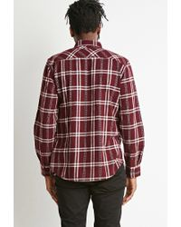 Forever 21 - Purple Plaid Flannel Shirt for Men - Lyst