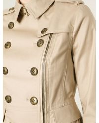 Burberry Brit - Natural Military Jacket - Lyst