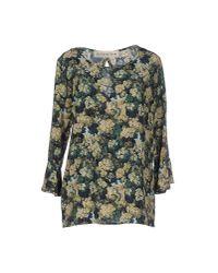 Shirtaporter - Green Blouse - Lyst