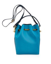Sophie Hulme - Green Drawstring Leather Bucket Bag - Lyst