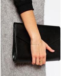 Orelia - Metallic Emperess Ring & Hand Harness - Lyst