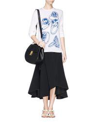 Chloé - Black 'drew' Medium Grainy Leather Bag - Lyst