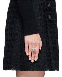 Alexander McQueen - Metallic King Skull Ring - Lyst