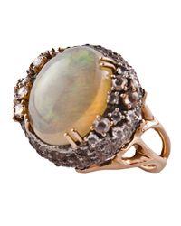 Federica Rettore - White Sea Urchin Cocktail Ring - Lyst