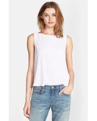 Enza Costa | White Scoop Back Tissue Jersey Tank | Lyst