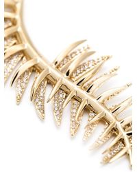 Eddie Borgo - Metallic Pavé Frond Pendant Necklace - Lyst