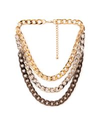 Forever 21 | Metallic Layered Rolo Chain Necklace | Lyst