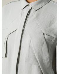 IRO - Gray 'Badia' Long Blouse - Lyst