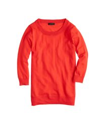 J.Crew | Red Merino Wool Tippi Sweater | Lyst