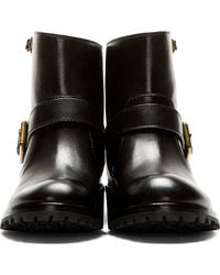 Marc By Marc Jacobs | Black Quilted Leather Boots | Lyst