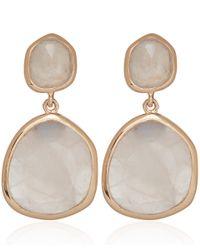 Monica Vinader - Metallic Medium Rose Gold Vermeil Rose Quartz Siren Drop Earrings - Lyst