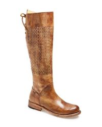 Bed Stu   Brown 'cambridge' Knee High Leather Boot   Lyst