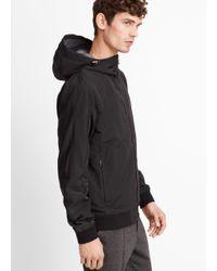 VINCE | Black Highline Nylon Scuba Jacket for Men | Lyst