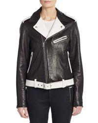 IRO - Black Wamiel Two-tone Leather Motorcycle Jacket - Lyst