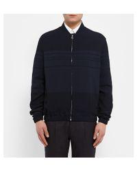 J.W.Anderson - Blue Striped Crepe Bomber Jacket for Men - Lyst