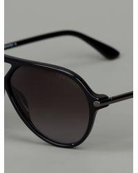 Tom Ford - Black Round Frame Sunglasses - Lyst