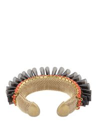 Sveva Collection - Black Audace Bracelet - Lyst
