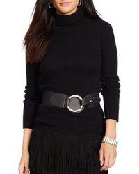 Lauren by Ralph Lauren | Black Wool & Cashmere Turtleneck Sweater | Lyst