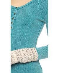 Free People - Alpine Cuff Newbie Thermal Top - Royal Blue - Lyst