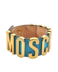 Moschino | Blue Lettering Bracelet | Lyst