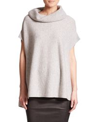 VINCE | Gray Cowlneck Cashmere Sweater | Lyst