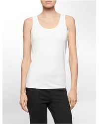 Calvin Klein | White Label Solid Lightweight Tank Top | Lyst