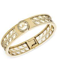 Michael Kors | Metallic Open Monogram Bracelet | Lyst