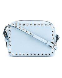Valentino | Blue 'rockstud' Shoulder Bag | Lyst