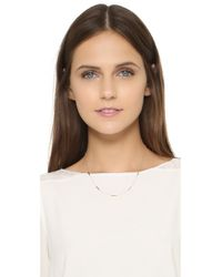 Adina Reyter - Metallic Bar Chain Necklace - Lyst