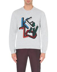 KENZO | Gray 3d Logo Cotton-jersey Sweatshirt for Men | Lyst