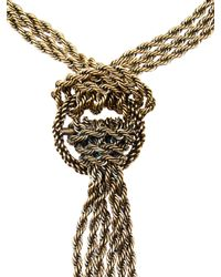 Lanvin | Black 'Cord And Pegasus' Necklace | Lyst