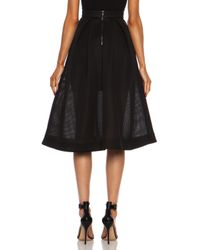 Nicholas - Black Embroidered Mesh Ball Skirt - Lyst