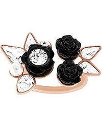 Swarovski   Black Bouquet Ring   Lyst