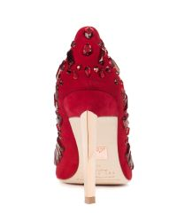 Ted Baker - Red Embellished Courts - Lyst