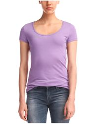 BOSS Orange Purple T-shirt 'tafame' In Cotton Blend