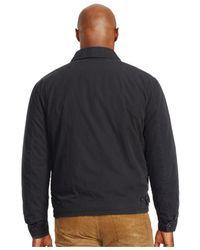 Polo Ralph Lauren | Black Big And Tall Poplin Windbreaker for Men | Lyst