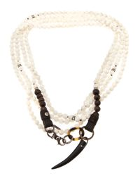 Beth Orduna | White Beaded Necklace | Lyst