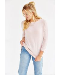 Kimchi Blue | Pink Elle Cozy Tunic Top | Lyst