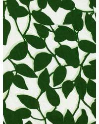 kate spade new york - Green Garden Leaves Poplin Crop Top - Lyst