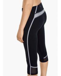 Mango | Black Fitness & Running - Slimming Effect Capri Leggings | Lyst