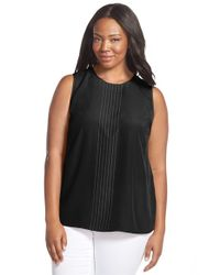 MICHAEL Michael Kors | Black Studded Sleeveless Top | Lyst